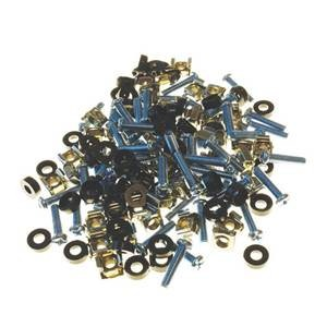 M6 Rack Screws, Caged Nuts & Washers (50-Pack)