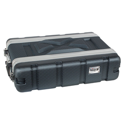 Trojan Carbon Rack Case 2U Shallow