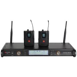 Studiospares 2.4GHz Dual Lavalier Wireless System S2.4/LAV