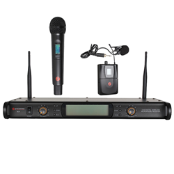 Studiospares 2.4GHz Dual Wireless System Handheld + Lavalier S2.4/HH/LAV