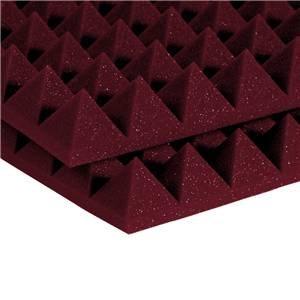 "Auralex 2"" Studiofoam Pyramids 2' x 4' Burgundy"