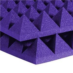 "Auralex 4"" Studiofoam Pyramids 2' x 4' Purple"