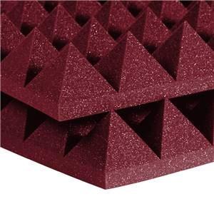 "Auralex 4"" Studiofoam Pyramids 2' x 4' Burgundy"
