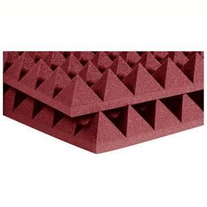 Auralex 4'' Studiofoam Pyramids 2' x 2' Burgundy