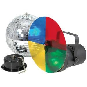 Skytec Disco Light Set 3 Mirrorball