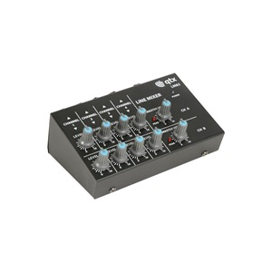 QTX 4 Stereo Channel Line Level and Instrument Mixer