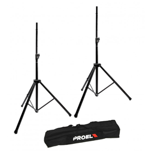 Proel FRE300KIT Air Cushioned Speaker Stands (pair) with Carry Bag
