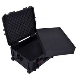Proel PPCASE13W IP67 Waterproof Wheeled Flight Case with Layered Picky Foam