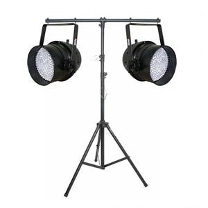 LEDJ Par 64 Pair with Lighting Stand