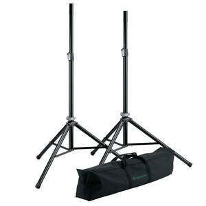 K&M 21449 Speaker Stands + Bag