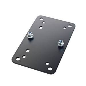 K&M 24354 Adapter Plate 2 Black