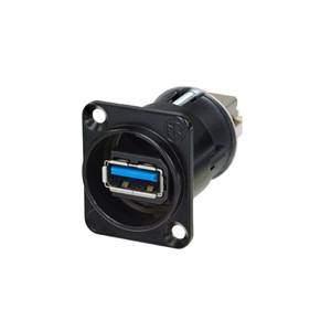 Neutrik NAUSB3-B Feedthrough USB3.0 Black