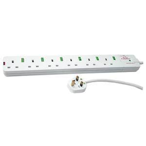 Switched Surge Protector 6-Way 2m