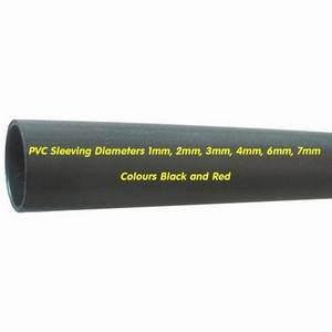 PVC Sleeving 4mm Black