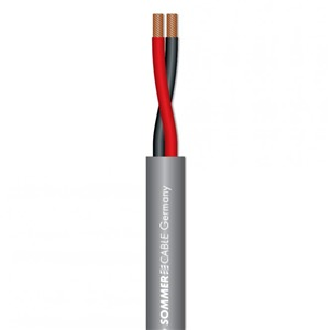 Sommer Meridian 2×1.5mm² Grey Speaker Cable (per m)