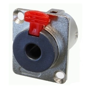 Precision Jack Socket Chassis Locking Mono/Stereo D Type
