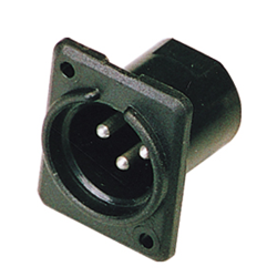 Studiospares Plastic XLR Male Chassis Socket