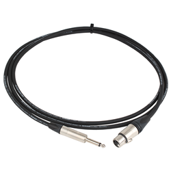 Pro Neutrik XLR Female - Mono Jack Lead 2.5m Black