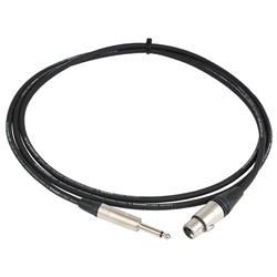 Pro Neutrik XLR Female - Mono Jack Lead 2.5m Black