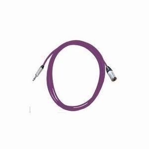 Pro Neutrik XLR Male - Mono Jack Lead 2.5m Violet
