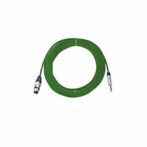 Pro Neutrik XLR Female - Mono Jack Lead 10m Green