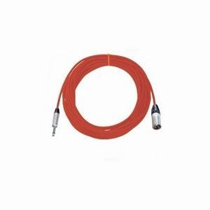 Pro Neutrik XLR Male - Mono Jack Lead 10m Red