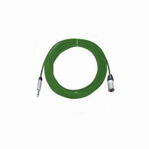 Pro Neutrik XLR Male - Mono Jack Lead 10m Green