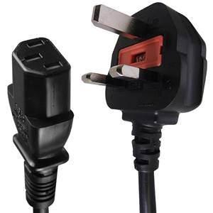 IEC C13 – UK Power Plug Mains Lead 5A 3m