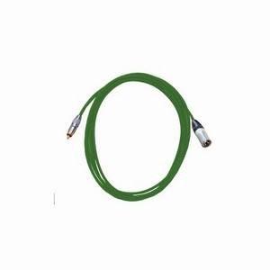 Pro Neutrik XLR Male - Phono Lead 5m Green