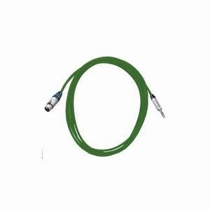 Pro Neutrik XLR Female - Balanced Jack Lead 5m Green