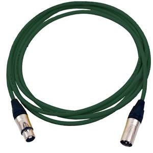 Pro Neutrik XLR Cable 5m Green