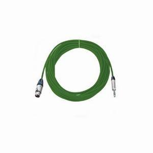 Pro Neutrik XLR Female - Balanced Jack Lead 10m Green