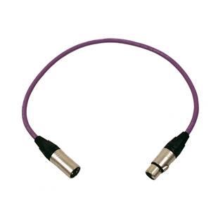 Pro Neutrik XLR Cable 60cm Violet