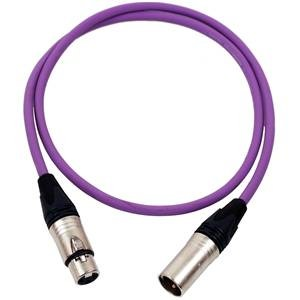 Pro Neutrik XLR Cable 2.5m Violet