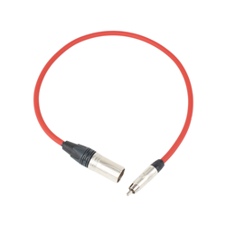 Pro Neutrik XLR Male - Phono Lead 60cm Red
