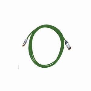 Pro Neutrik XLR Male - Phono Lead 2.5m Green