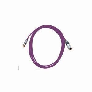 Pro Neutrik XLR Male - Phono Lead 2.5m Violet