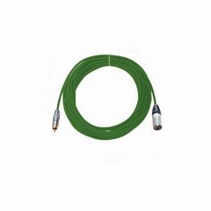 Pro Neutrik XLR Male - Phono Lead 10m Green