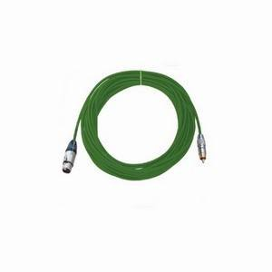 Pro Neutrik XLR Female - Phono Lead 10m Green