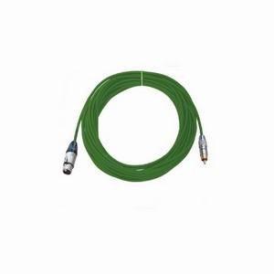 Pro Neutrik XLR Female - Phono Lead 10m Green