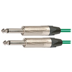 Pro Neutrik Unbalanced / Mono Jack Lead 2.5m Green