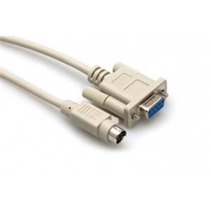 Hosa 8-pin mini-DIN to DE9 3m