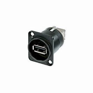 Neutrik NAUSB-W-B Black USB Feedthrough