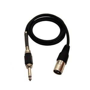 XLR Male - Mono Jack Lead 1m Black