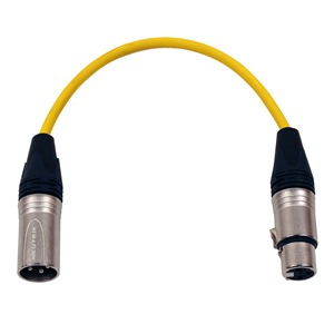 Pro Neutrik XLR Cable 30cm Yellow