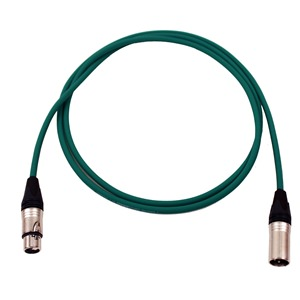 Pro Neutrik XLR Cable 2m Green