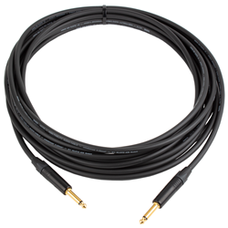 Pro Guitar Lead Black & Gold Plug 10m