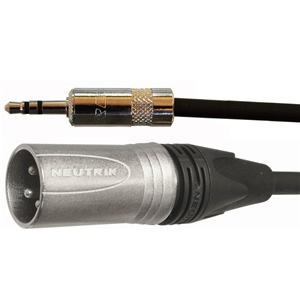 Pro Neutrik Mini Jack - XLR Male Lead 5m