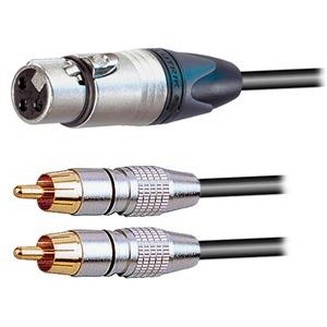 Pro Neutrik XLR Female – 2x Phono Plugs Breakout 10cm