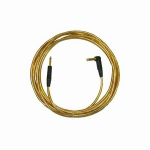 Pro Neutrik ZX Guitar Lead 10M Gold Right Angled